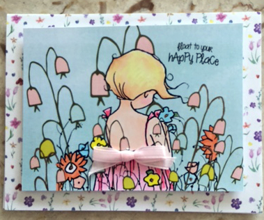 Added the back ground and the flowers to this little girl with Printmaster and The Hungry JPG
